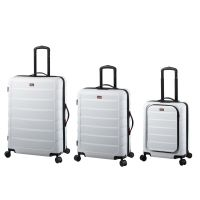3er-Reisetrolley-Set, weiß