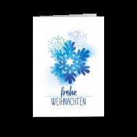 Watercolor Schneeflocke