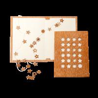 Holzkarte - 24 Sterne
