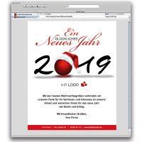 E-Card Glücklich - Weihnachtskugel