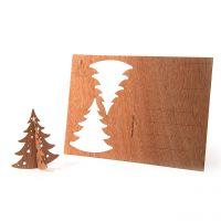Holzpostkarte Tanne