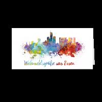Skyline aquarell - Essen