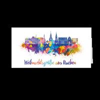 Skyline aquarell - Aachen