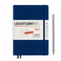 Wochenkalender & Notizbuch Hardcover Medium A5 - marine