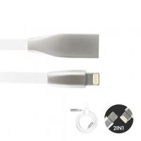 2-in-1 Design Kabel 1.000 mm - weiß