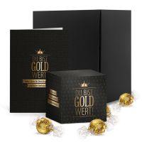 Du bist Gold wert XL mit Karte