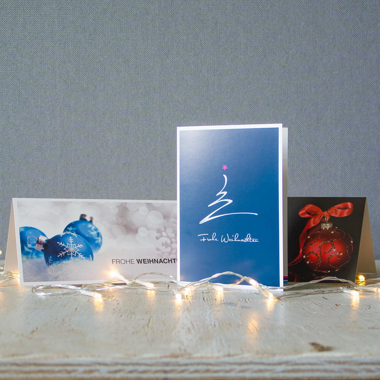 g nstige firmen weihnachtskarten mit logo online kaufen. Black Bedroom Furniture Sets. Home Design Ideas