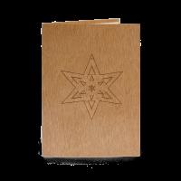 Holzkarte - Stern