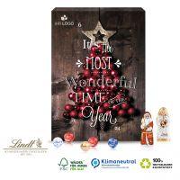 Wand-Adventskalender Lindt Weihnachtsmann & Engel