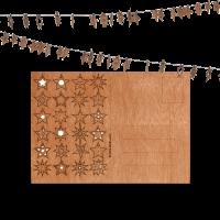 Holzpostkarte 24 Sterne