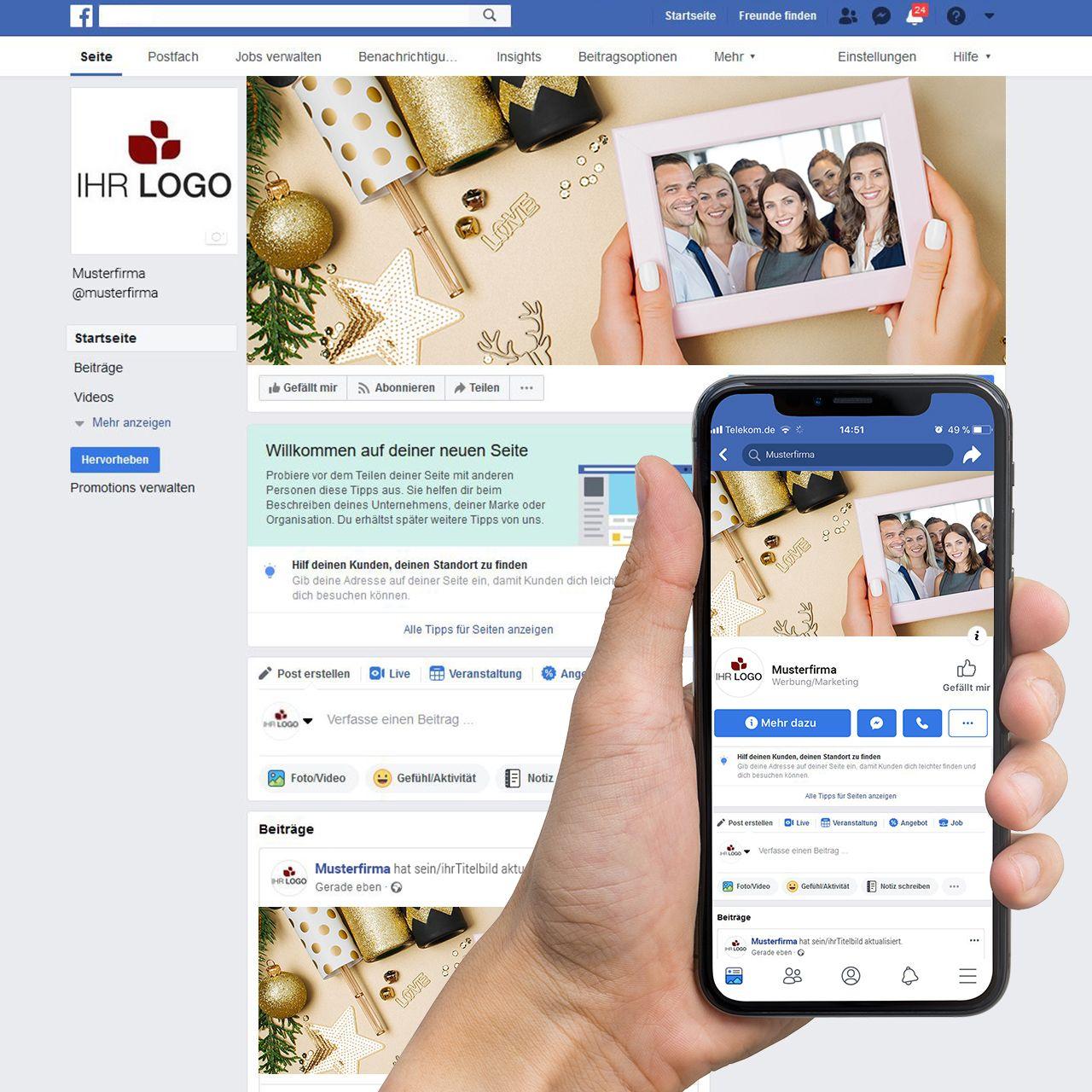 Facebook-Titelbild ´´Fotokarte Glamour´´