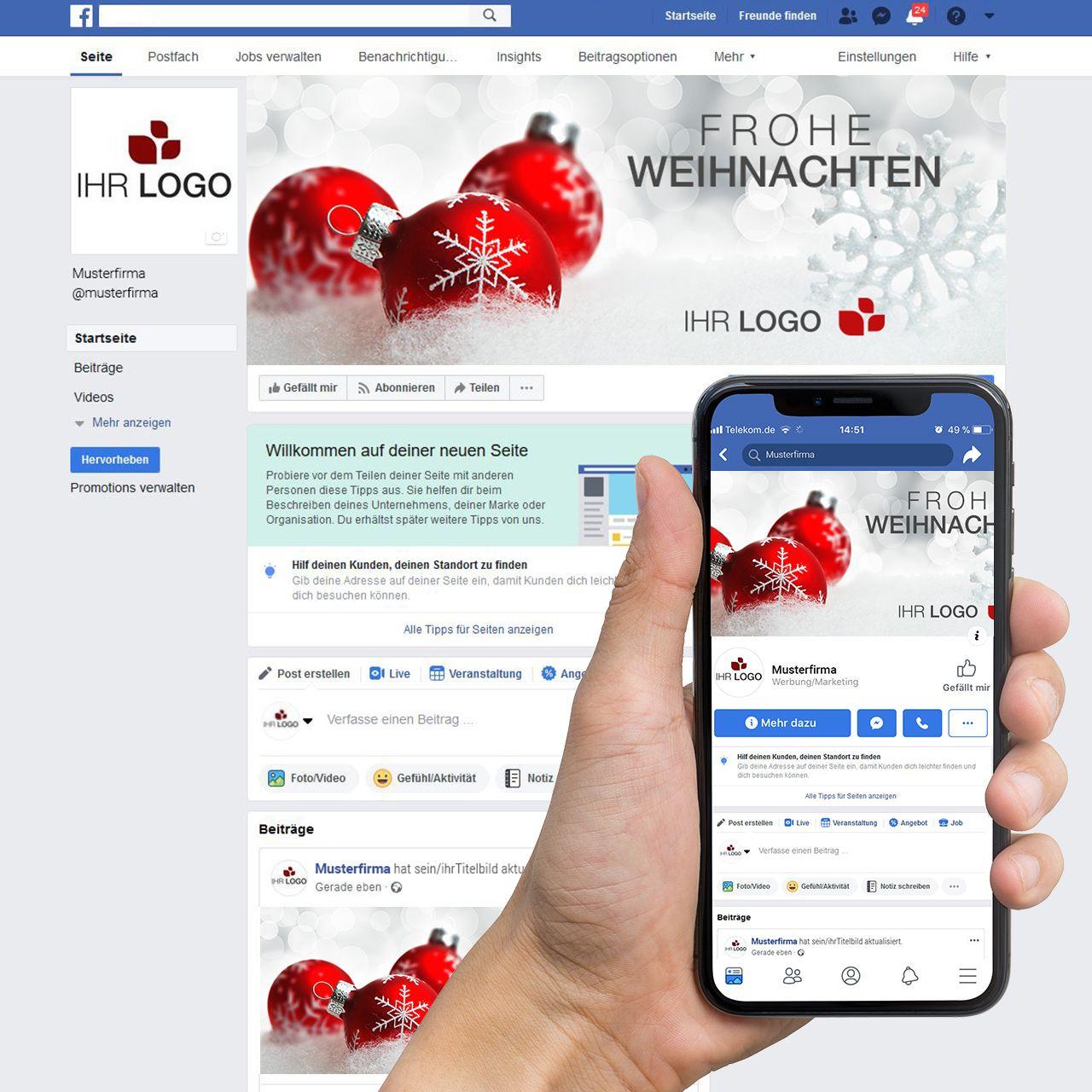 Facebook-Titelbild ´´Weihnachtskugel 02´´