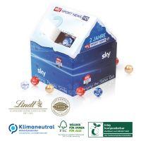 Weihnachtshaus Adventskalender Lindt - kompostierbares Inlay