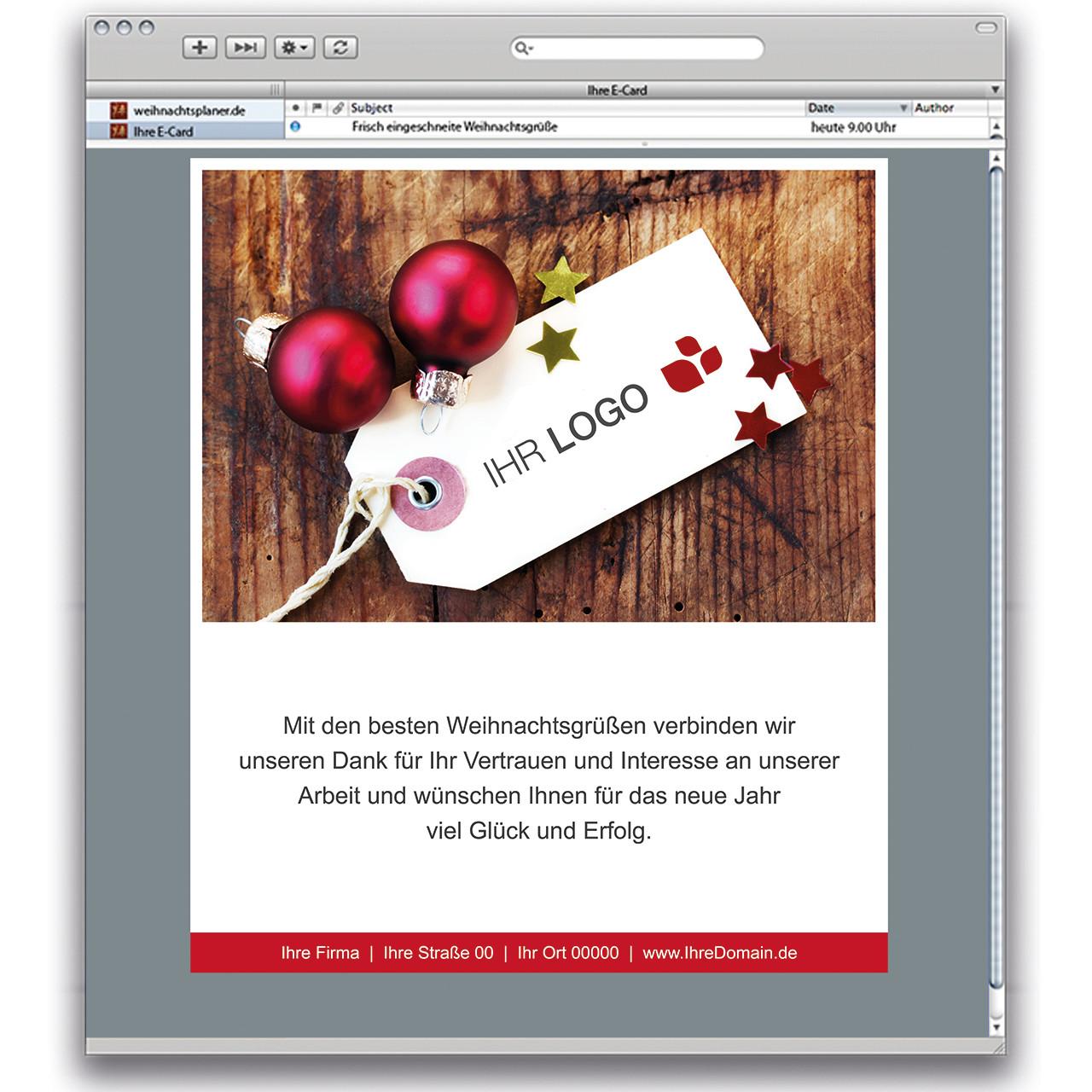 weihnachtskarte e card geschenkanh nger weihnachtsplaner. Black Bedroom Furniture Sets. Home Design Ideas