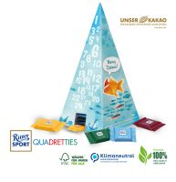 Nachhaltiger Adventskalender Ritter SPORT Pyramide