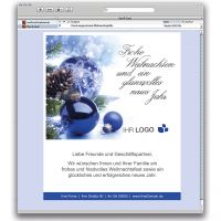 E-Card Glanzkugel