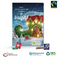 100% Karton-Adventskalender Fairtrade