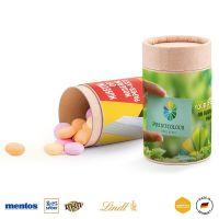 Papierdose Eco Midi mit Mentos Fruit