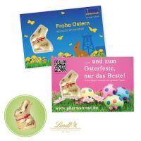 Promotion-Card mit Lindt-Goldhase