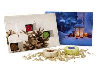 Duftkerzen-Adventskalender beige