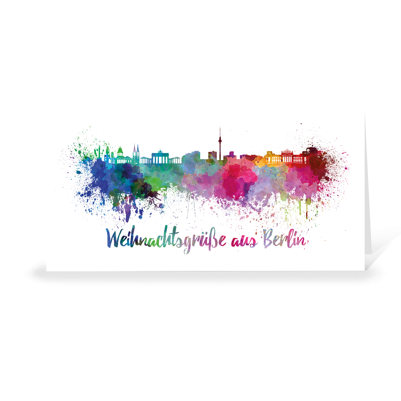 Skyline aquarell - Berlin
