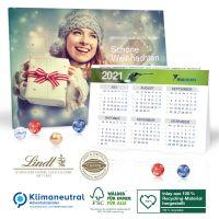 2 in 1 Adventskalender mit Jahresplaner - Lindt Minis