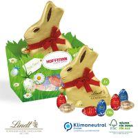 Premium-Osternest mit Schokolade von Lindt