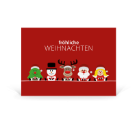 Postkarte Weihnachtsteam - Team