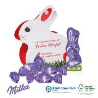 Werbe-Hase mit süßer Füllung - Milka