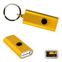Flat Light Schlüsselring gelb