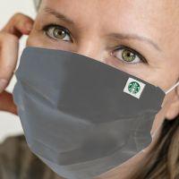 Stoffmaske mit Logo-Etikett (Mehrweg)