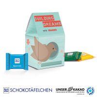 Standbodenbox Ritter Sport Schokotäfelchen