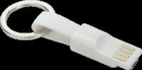 2-in-1 Mini Magnet Kabel 100 mm - weiß