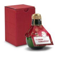 Kleinste Sektflasche - Fröhliche Weihnachten