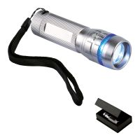 Multifunktionale LED-Lampe silber