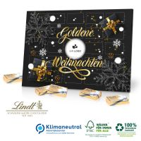 Tischkalender Lindt mit Ihrem Logo - Gold Edition