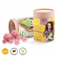 Papierdose Eco Maxi mit veganen Himbeerbonbons