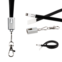 2-in-1 USB-Charger-Lanyard