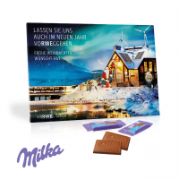 Tischkalender mit Milka Schokolade