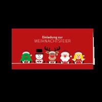 """Einladungskarte """"Weihnachtsteam Team"""""""
