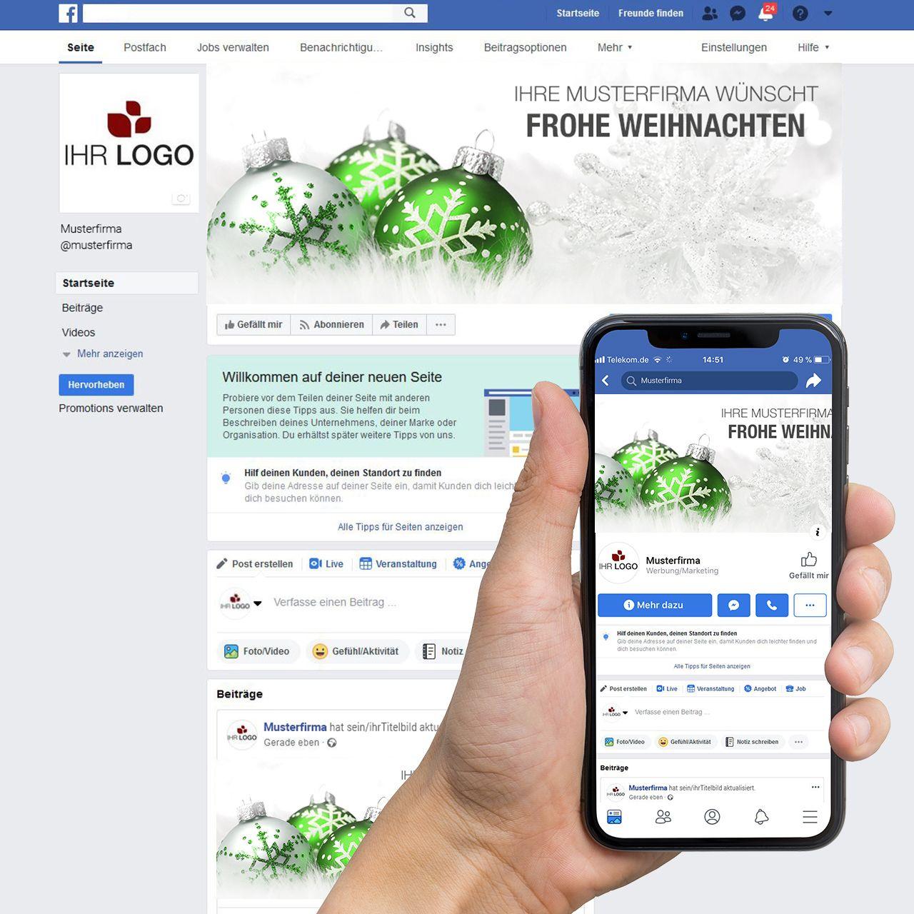 Facebook-Titelbild ´´Weihnachtskugel 01´´