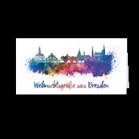 Skyline aquarell - Dresden