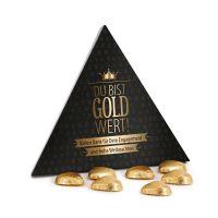 Du bist Gold wert – Lindt Pyramide