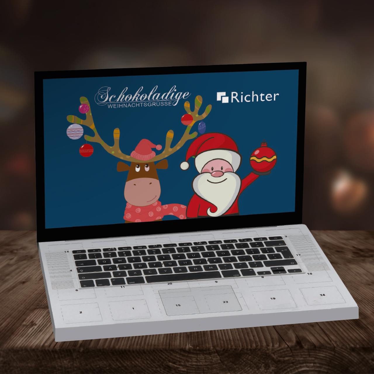 Weihnachtskalender Auf Rechnung.Werbe Adventskalender Als Weihnachtskalender Für Firmen Individuell