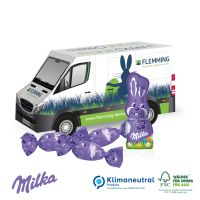 3D Präsent Transporter mit süßer Füllung - Milka